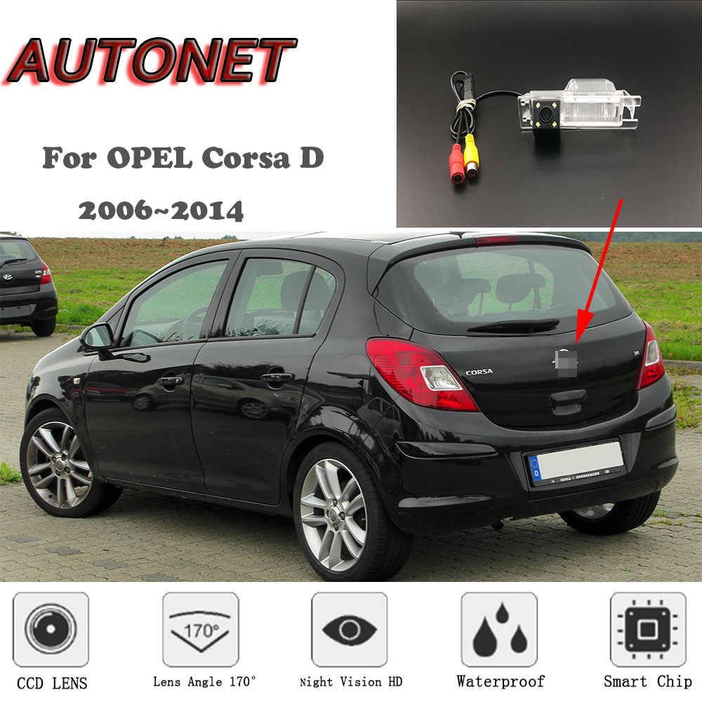 AUTONET HD Night Vision Backup Rear View camera For OPEL Corsa D 2006~2014   CCD / RCA Standard /Parking Camera