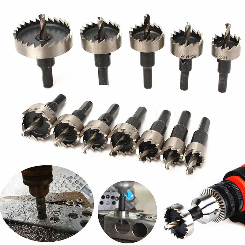 12Pcs/set HSS Steel Hole Saw Tooth High Quality Drill Bit Set For Woodworking Metal Cutter Tool 15-50mm 46pcs 1 4 inch high quality socket set car repair tool ratchet set torque wrench combination bit a set of keys chrome vanadium