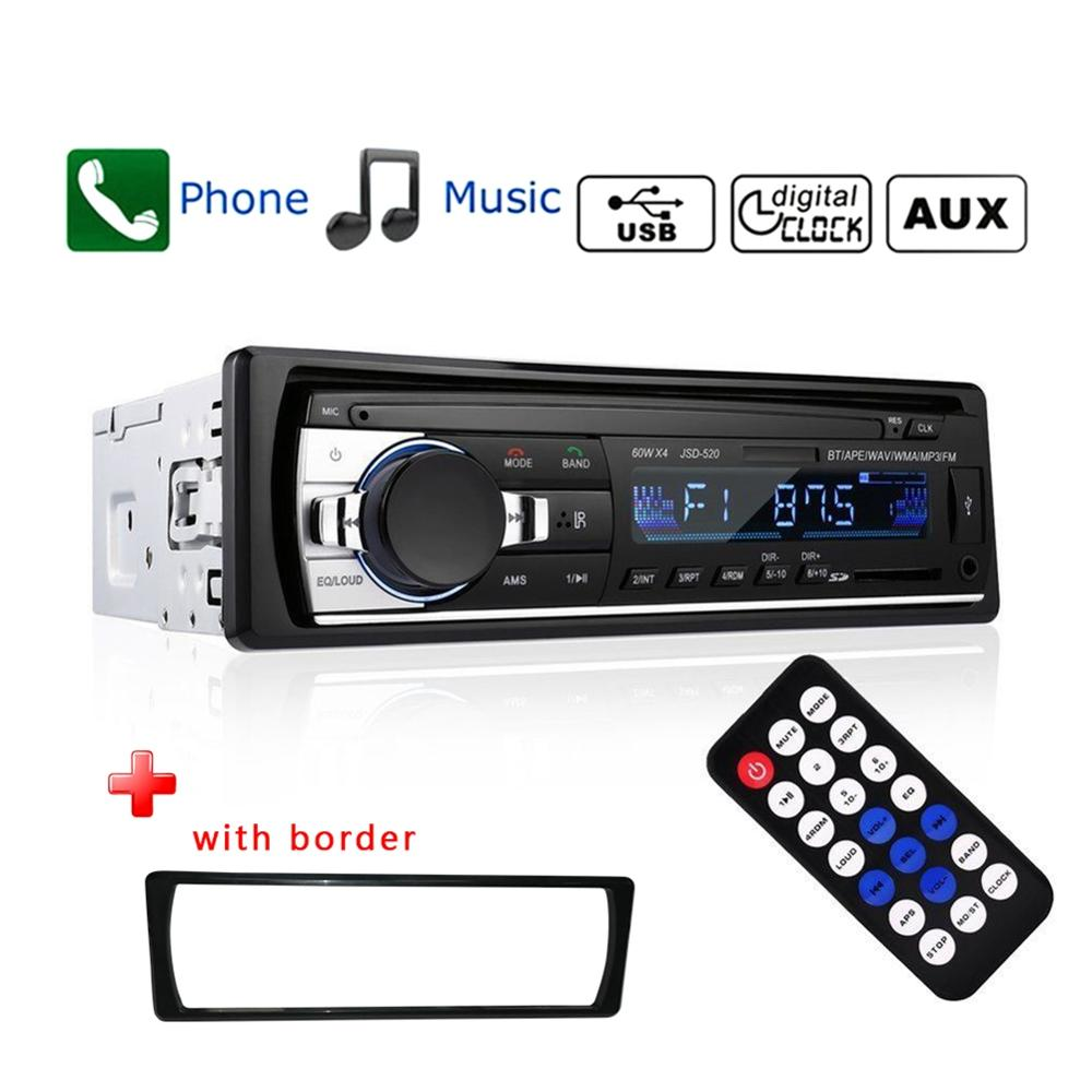 Car MP3 Player Bluetooth Wireless Car Stereo Audio FM Radio Module TF USB 3.5mm AUX Audio SD USB MP3 Radio Player
