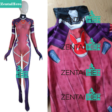 ZentaiHero Costume 3D Print dva White Rabbit SKIN Zentai Bodysuit Female Women Girls