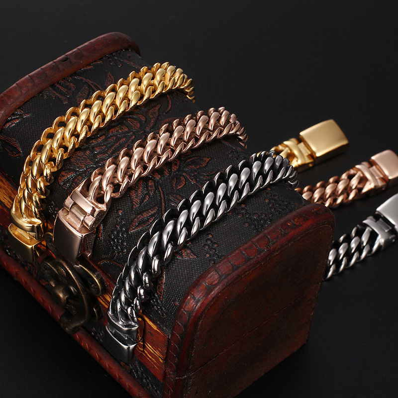 Hot New Europe and America men titanium steel section of  simple fashion ladies bracelet