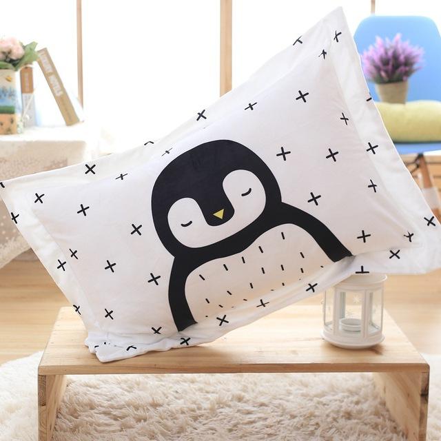 Curto Bebê Travesseiro Leão Dos Desenhos Animados do Pinguim de Pelúcia Urso Raposa Brinquedos Do Bebê Decoração do Quarto Da Cama Travesseiro Nascido Posando Travesseiro Photograp