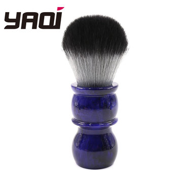 26mm Yaqi Timber Wolf Color Synthetic Hair Shaving Brush leather