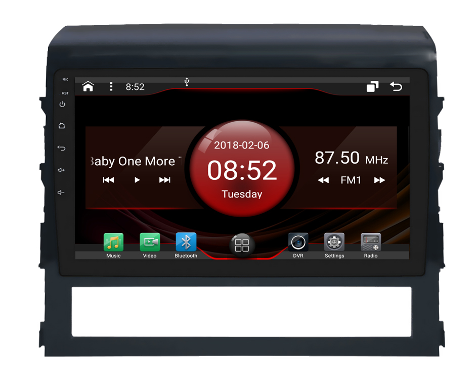2GB RAM octa core Android 7.1.2 car GPS for TOYOTA Landcruiser 2016 touch screen car radio stereo navigation 3G mirror link DVR