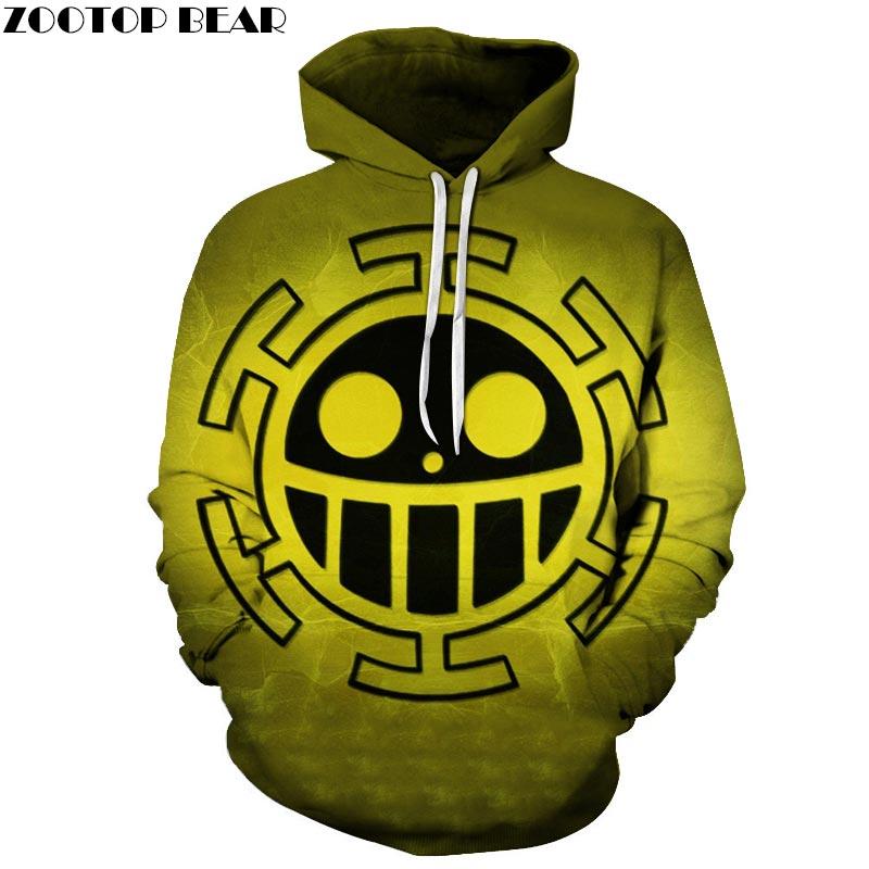 Green One Piece 3D Print Brand Casual Hoody Sweatshirt Men Tracksuit Hoodie Pullover Streetwear Cloth Unisex DropShip ZOOTOPBEAR