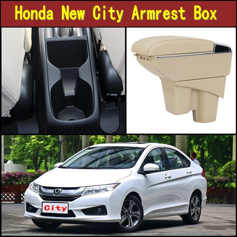 Untuk Honda New City sandaran tangan pusat kotak Penyimpanan konten - Suku cadang mobil - Foto 3