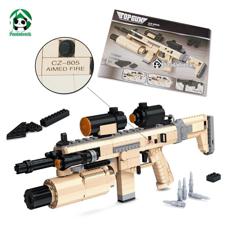 ФОТО CZ805 Assault Rifle 767pcs Large Size Gun Building Toy Blocks Set Army Weapon Models & Building Bricks Compatible with lego