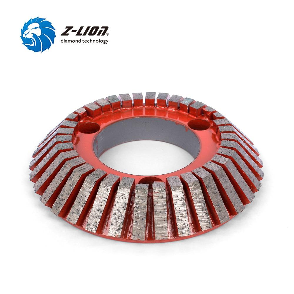 Z LION цельнокроеное платье ЧПУ Бит полировки алмазов шлифовальный инструмент для камня Гранит Мрамор край Форма резки профилирования колеса