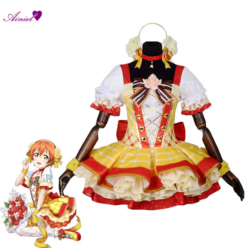 Anime LoveLive! Cosplay Costumes Love live Flower Bouquet Arousa Kousaka Honoka Minami Kotori Ayase Eli Hoshizora Rin Nico Dress kotori nico eli rin umi maki anime love live lovelive school version rubber keychain