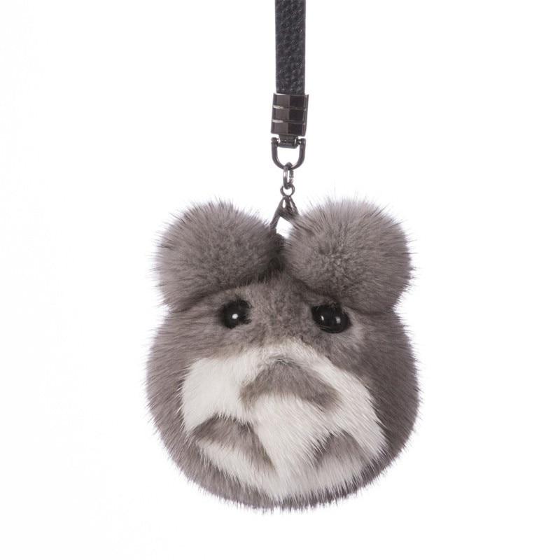 2018 Fur Bunny Rabbit Keychain Fashion pom pom keychain Fox fu fur keychain Toy Doll rabbit keychain Pendant Bag Car Charm pom pom keychain with glass