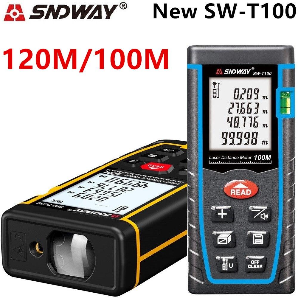 SNDWAY medidor de distância a laser 80 60 40 m m m 100 m laser rangefinder laser range finder fita métrica construir dispositivo roleta trena régua