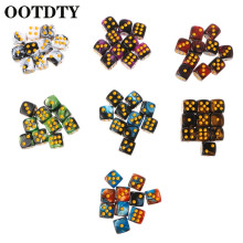 OOTDTY 10pcs Six Sided 12mm Transparent Cube Round Corner Portable Table Playing Games  Game Dices