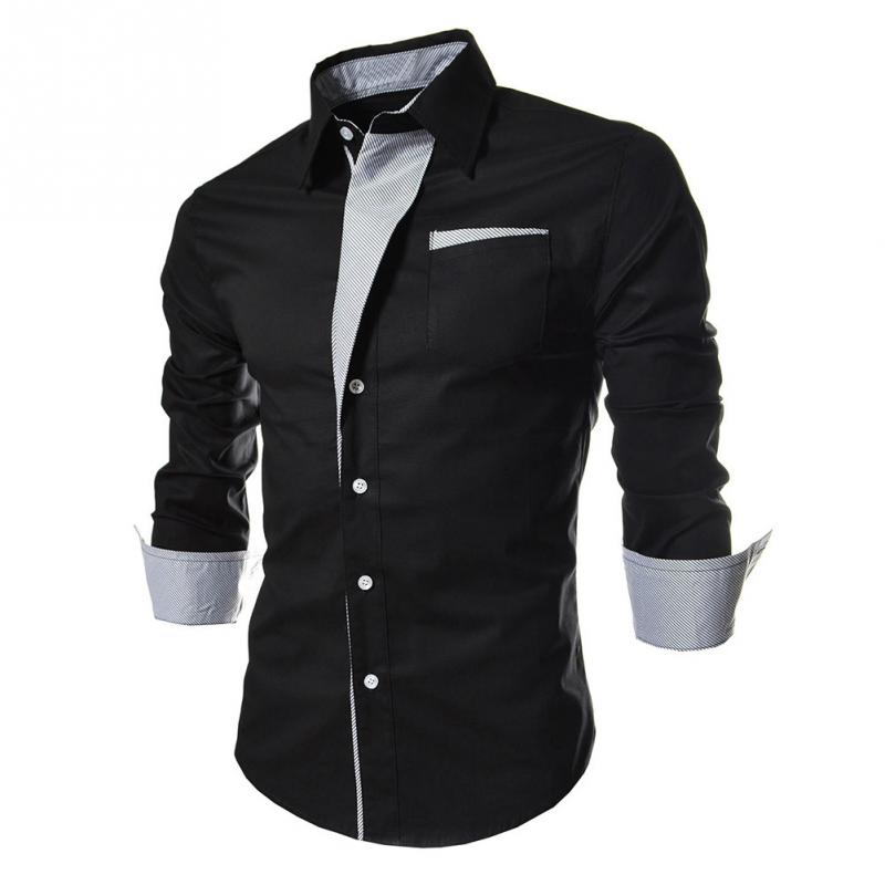 Hot High Quality Fashion Stripes Assorted Colors Style Slim Shirt Men Casual Style Long-sleeve Shirt