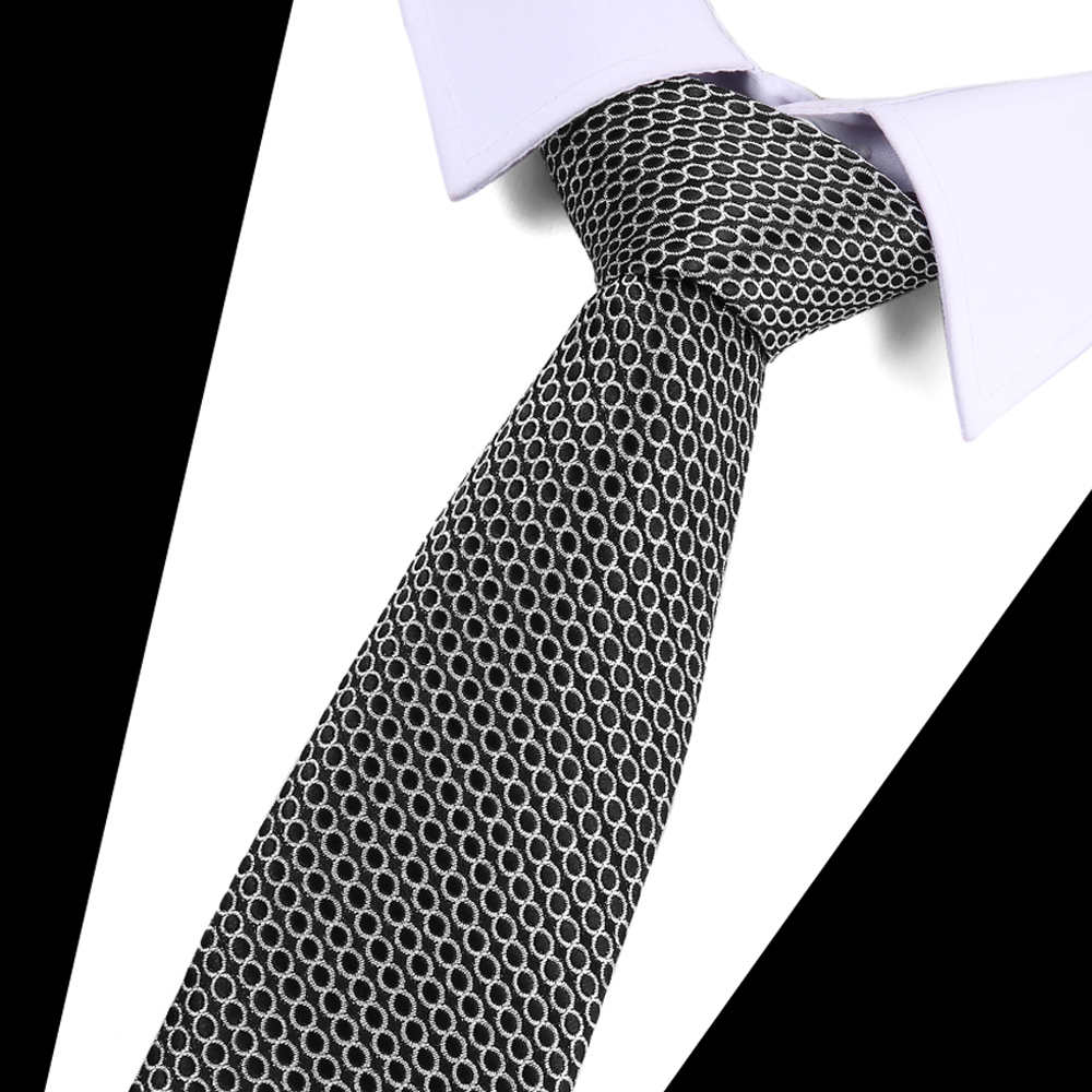 New Men 39 s 7 5cm slim ties Classic polyester woven party Neckties Fashion Plaid dots Man Tie for wedding Business Male tie in Men 39 s Ties amp Handkerchiefs from Apparel Accessories