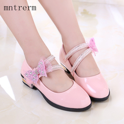 2017 the new for spring girls wedding shoes children princess shoes bright flat with dance flower.jpg 250x250