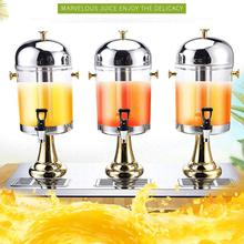 24L Stainless Steel Three Cylinders Drinking Juice Dispenser with Separate Water Tank