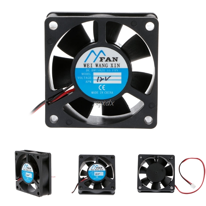 DC 12V 2-Pin Cooler Brushless Axial PC CPU Case Cooling Fan 6020 60mmX60mmX20mm  Drop Ship