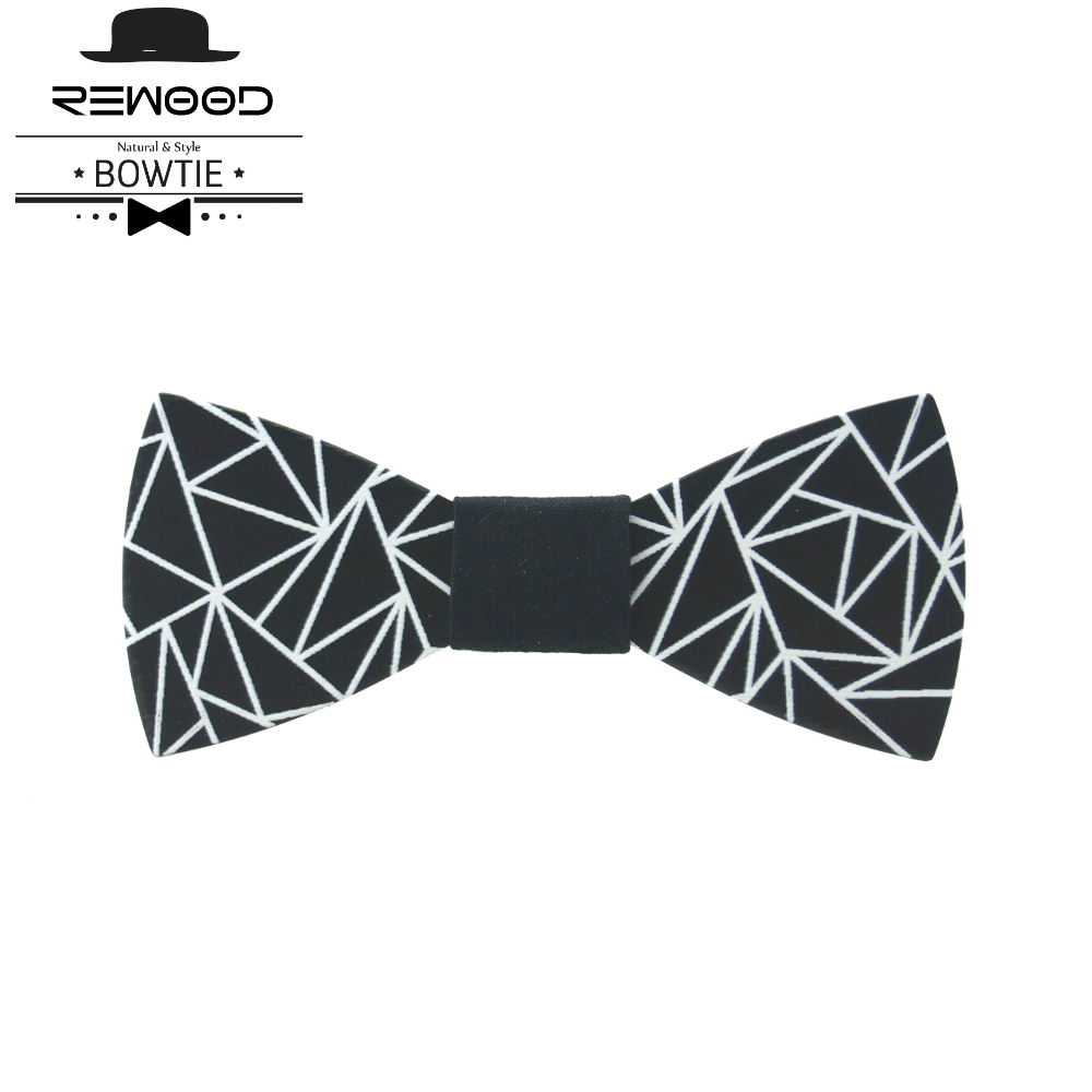 Rewood New Classic Wood Bow Ties Printeds