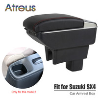 For Suzuki SX4 S cross 08 16 2017 2018 armrest box USB Charging interface heighten central Store content box cup holder ashtray
