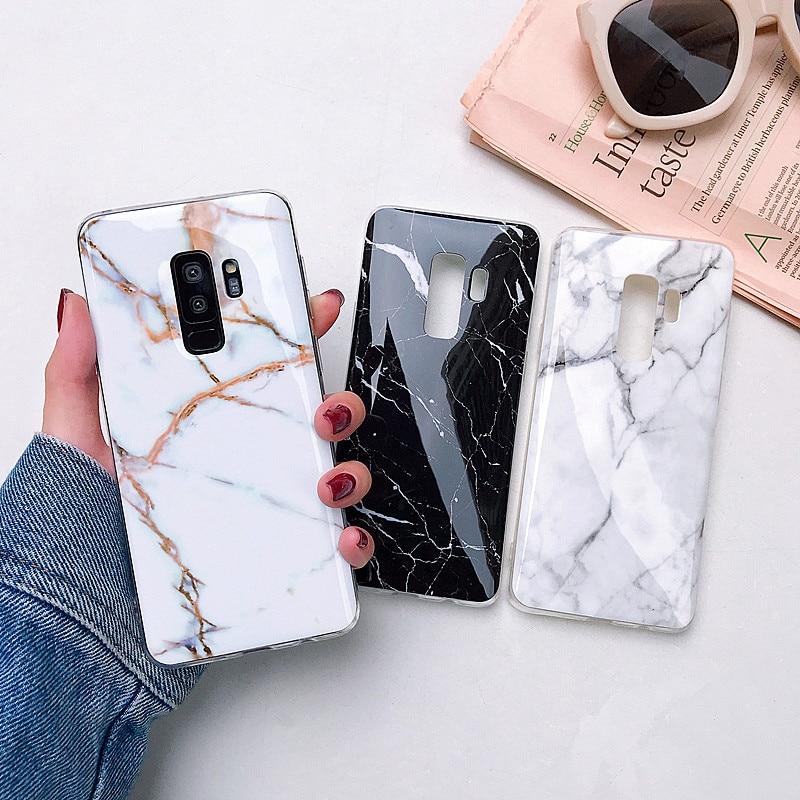 Fashion Marble Case For Samsung Galaxy S10e S10 S9 S8 Plus S7 S7 Edge Silicone Soft Cover For Samsung Galaxy Note 8 9 Case Coque