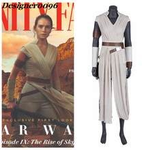 Movie cosplay 2019 New Released Star Wars: The Rise of Skywalker Movie Actress Rey Cosplay Costume Halloween Adult Clothes COS movie