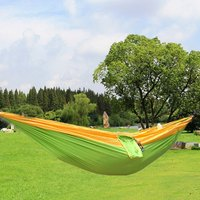 17 Colors High Strength Parachute Nylon Fabric Camping Single Parachute Hammock With Strong Rope For Camping