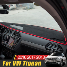For Volkswagen VW Tiguan 2009-2014 2015 2016 2017 2018 Car Dashboard Cover Shading Mat Sun Shade Pad Carpet Interior Accessories