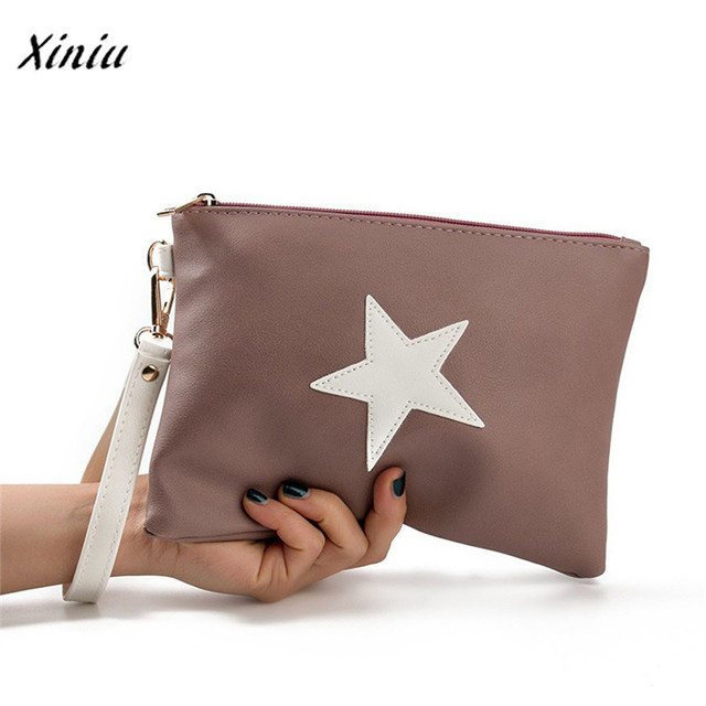 New handbag Women Envelope Bag Day Cluthes Bags Zipper Coin Purse Wallet Card Holders Stars Pattern Handbag bolsa feminina 5