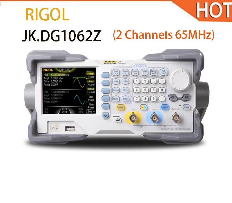 2018 hot RIGOL Signal Generator DG1062Z Arbitrary Waveform Function Generator 65MHZ 2018 hot new rigol dg4102 signal arbitrary waveform generator awg 100mhz 2 channel 7inch lcd display