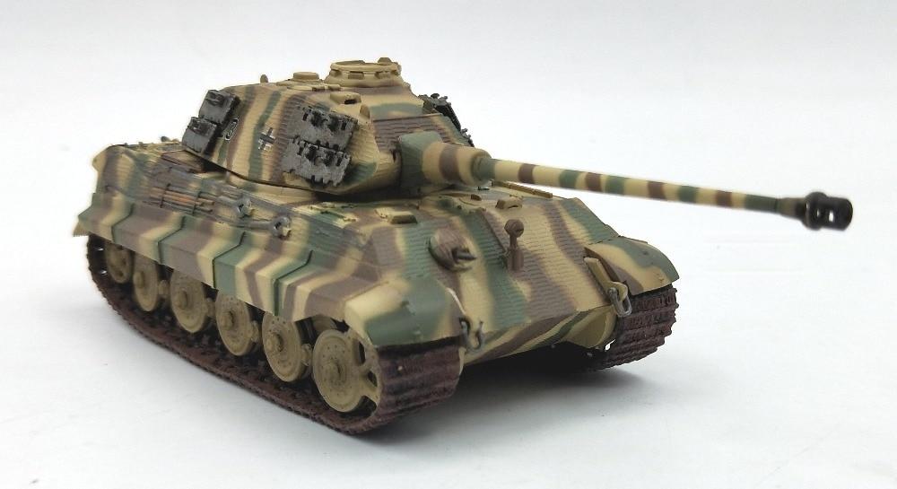 1:72 German Tiger King heavy tank model antimagnetic camouflage trumpet   finished 36298