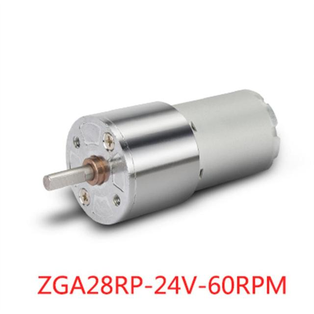 ZGA28RP DC 24V 60RPM Micro Gear Box Motor Speed Reduction Centric Output Shaft Motor Accessories Electrical Equipment