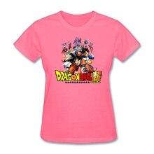 St. Valentine's Day Women Anime Dragon Ball Super tshirt Fabic Cotton O-neck Womens tshirt Promotional Tee Creator