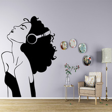Comfortable Listen To Music Wall Sticker Art Decal Pvc Material Stickers In The Living Room Background