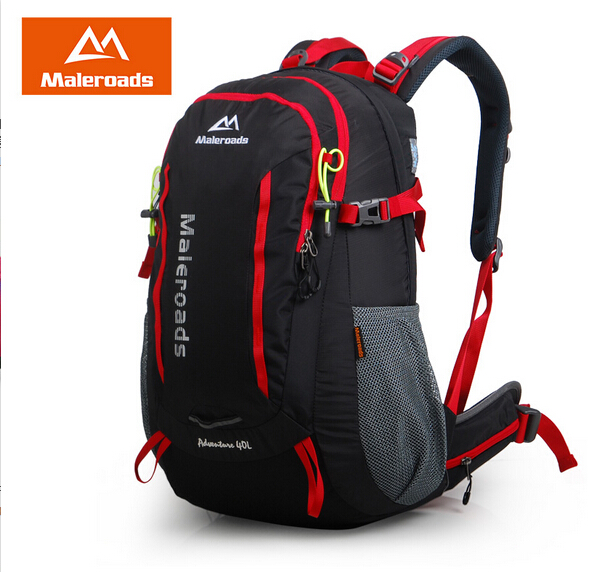 Maleroads 40L waterproof hike backpack camp mochila travel rucksack mountaineering climb bag pack for women men maleroads women men backpack daily backpack outdoor travel backpack climb knapsack camp hike rucksack daypack 40l laptop mochila