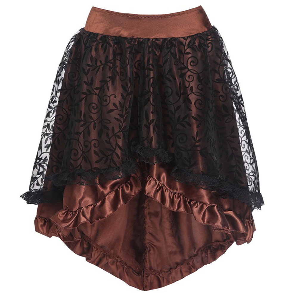 Womens Sexy Gothic Floral Lace soft and comfortable High Waist Gothic Novelty Corset High Plus Skirt L50/0124