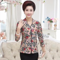 Middle Aged Women S Summer Sleeves Shirt Mother Loaded Spring And Autumn Coat Middle Aged Sleeves