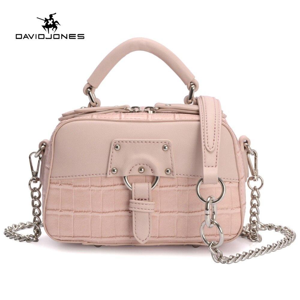 DAVIDJONES Women Crossbody bag lady serpentine Messenger teenager girls evening Purse female top-Hand handbag