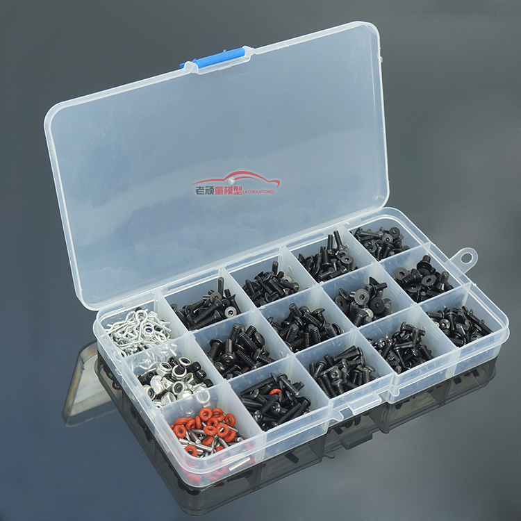 HSP 94123 94111 and other commonly used pieces of screw box package contains shell buckle nut m3 m4 Easy to wear screw set 02055