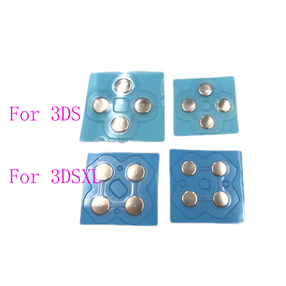 For 3DS Cross Keys D Pad Button Membrane Button Conductive Repair Part For 3DS XL ABXY Conductive Clicky Buttons