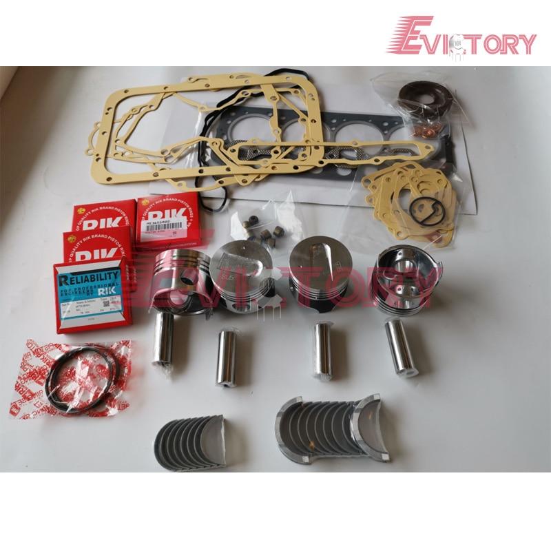 Pour Mitsubishi S4L S4L2 piston + piston anneau kit de joint d'étanchéité complet vilebrequin et palier de bielle