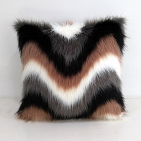 New luxury fur wool weave plush sofas Cushion Cover colorful soft luxury cushion case bed car home room Dec wholesale FG1070