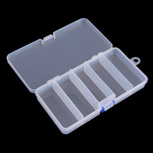 Transparent Plastic Fishing Lure Bait Box Storage Organizer Container Case free shipping