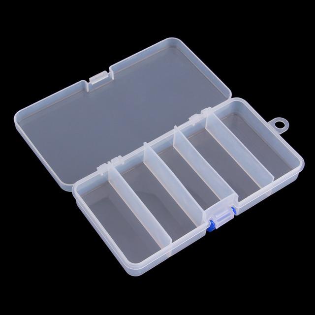 Transparent Plastic Fishing Lure Bait Box Storage Organizer Container Case free shipping