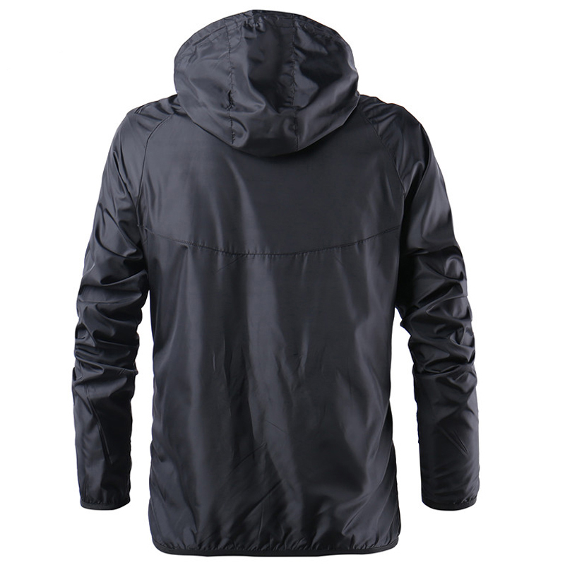 Mens Fashion Outerwear Windbreaker Thin Jackets Hooded Casual Sporting Coat 2