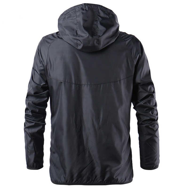 2019 春夏新作メンズファッション上着ウインドブレーカーメンズ薄型ジャケットフード付きカジュアルスポーツコートビッグサイズ