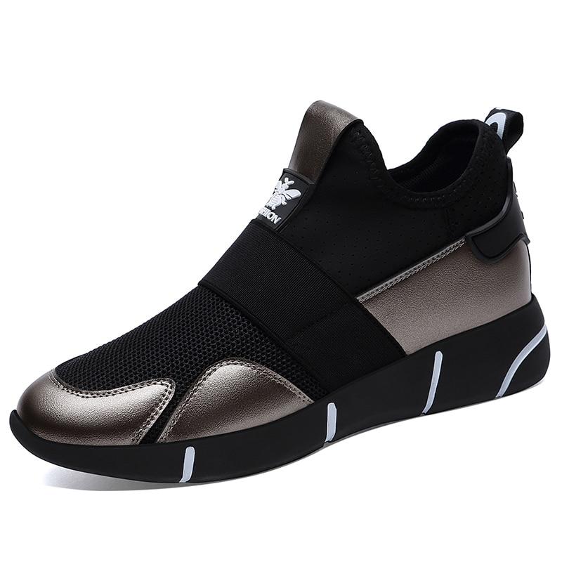 Talons Femmes Cm black Hauteur 5 À Plate Dames Croissante Split Marche black Gray Falt Chaussures 1 Maille Sneaker L'intérieur Casual Guciheaven forme Pour Lealher White aBOXPPzwq