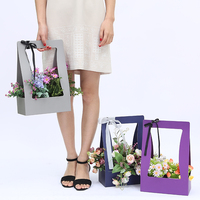 Portable Basket Flowers Floral Decoration Flower Packaging Gift Box Paper Bag Gift Bags Supplies Shop Special