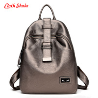 Cloth Shake Fashion Summer New Women Backpacks PU Leather School Bags For Teenage Girls Designer Shoulder