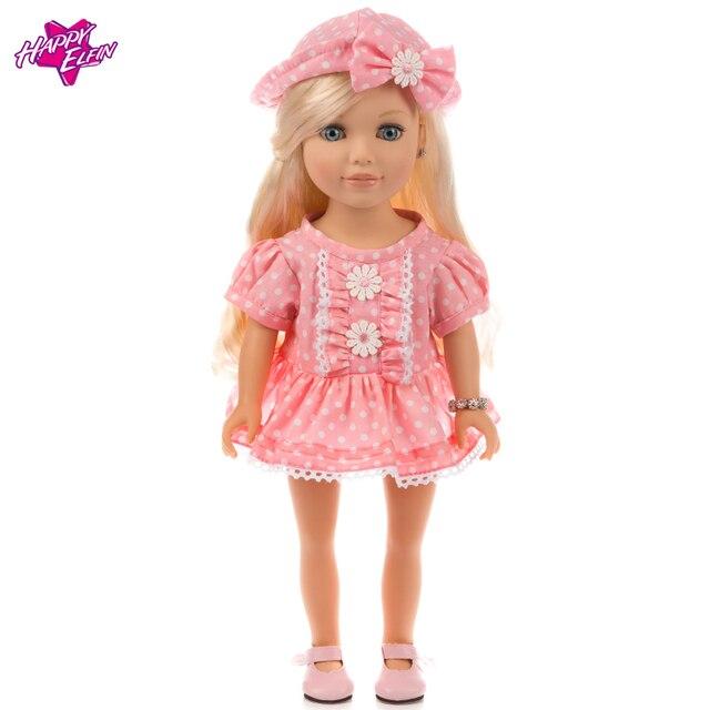 bce1b6ac0 Горячая Распродажа Красивые вечерние платье Модная одежда для 18in  Американский куклы, игрушки для детей подарок