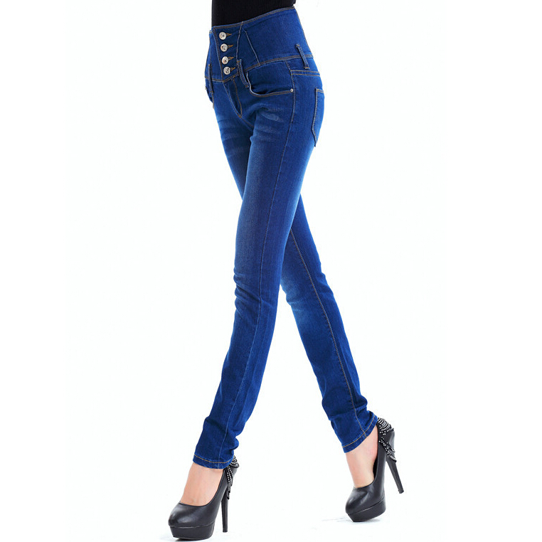 spring fashion new Korean Slim high waist skinny jeans feet pencil pants jeans woman